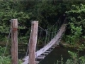 Old Wooden Swinging Bridge