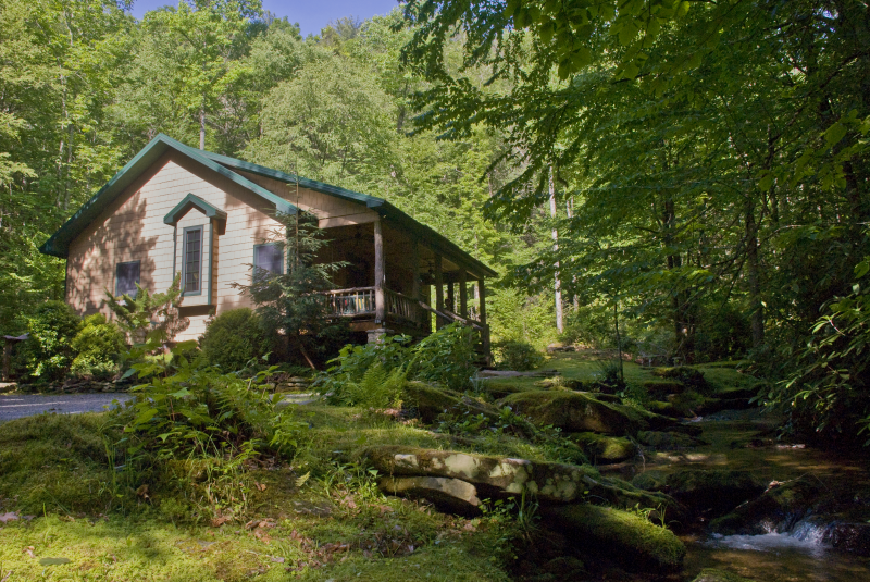 The waterfall cabin a luxury cabin in the heart of for Table rock nc cabins
