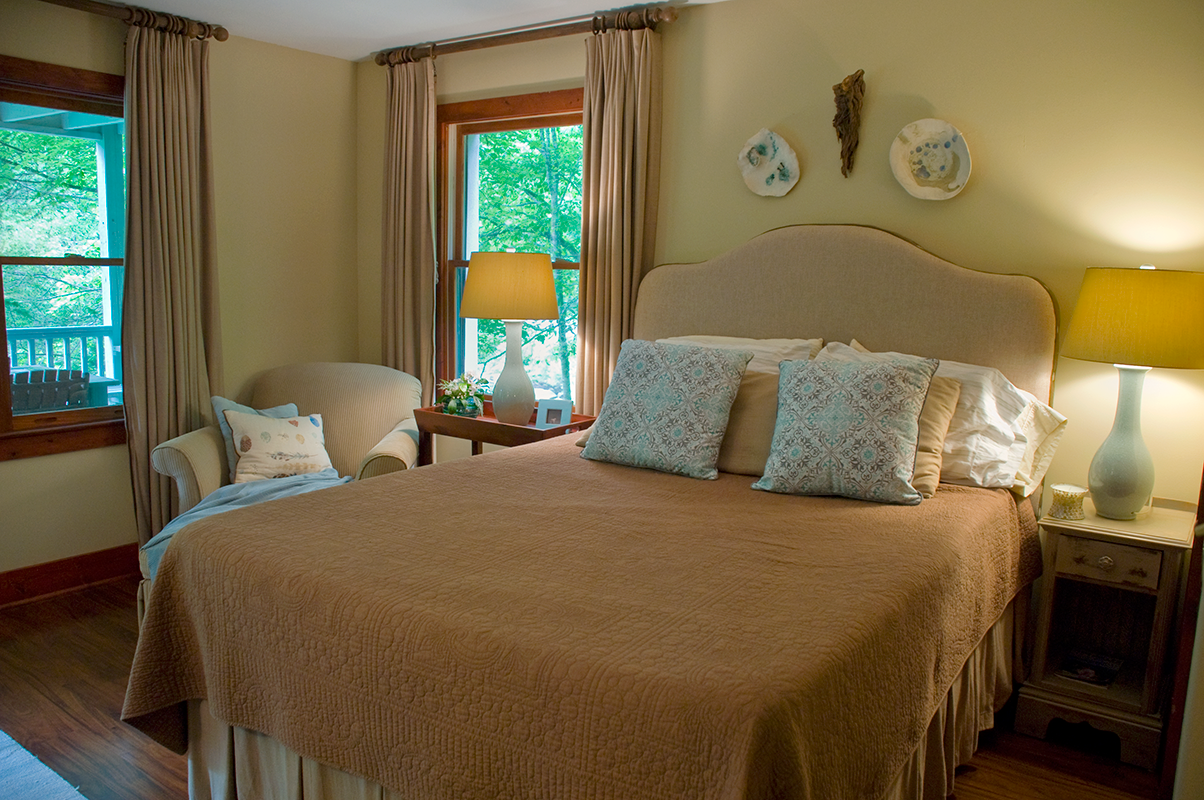 Riverfront Cottage Master Bedroom